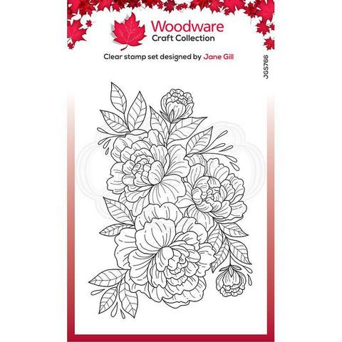 Woodware leimasin Camellia Spray