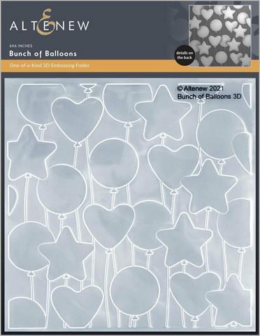 Altenew 3D kohokuviointikansio Bunch of Balloons