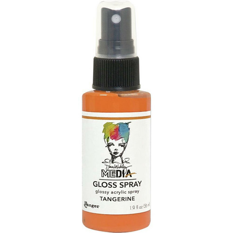 Dina Wakley Media Gloss Spray -suihke, sävy Tangerine, 56 ml