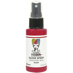 Dina Wakley Media Gloss Spray -suihke, sävy Ruby, 56 ml