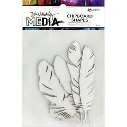Dina Wakley Chipboard Shapes kuvioleikkeet Feathers