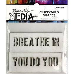Dina Wakley Chipboard Shapes kuvioleikkeet Speak Out
