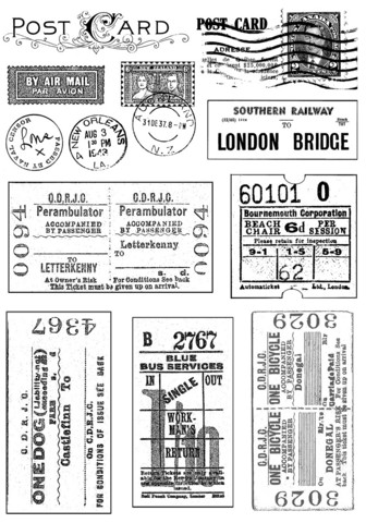 Crafty Individuals leimasin Vintage Tickets and Postmarks