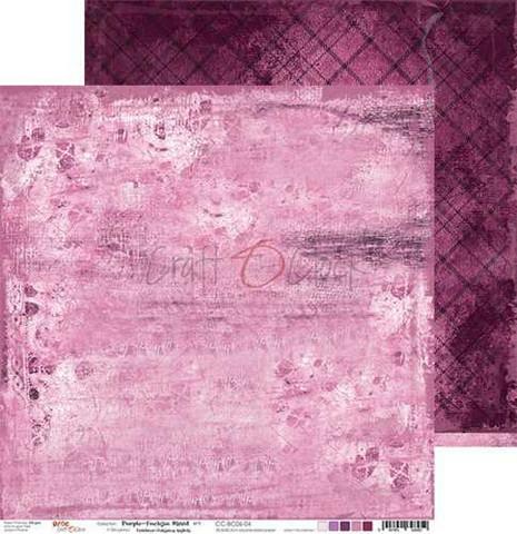 Craft O'clock skräppipaperi Purple-Fuchsia Mood 04
