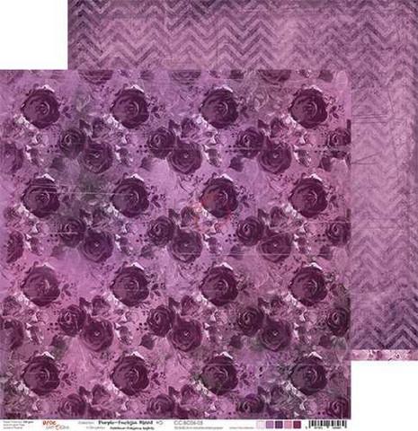 Craft O'clock skräppipaperi Purple-Fuchsia Mood 05