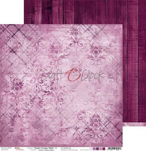 Craft O'clock skräppipaperi Purple-Fuchsia Mood 06