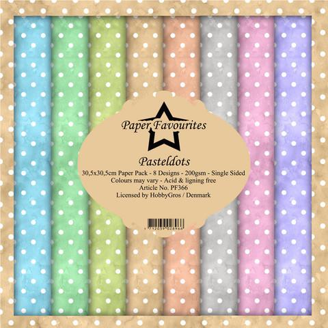 Paper Favourites Pastel Dots -paperipakkaus, 12