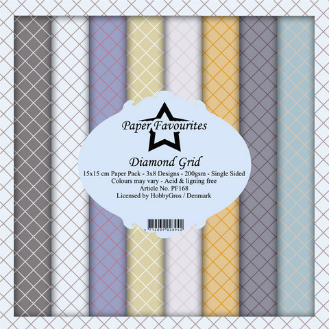 Paper Favourites Diamond Grid -paperipakkaus