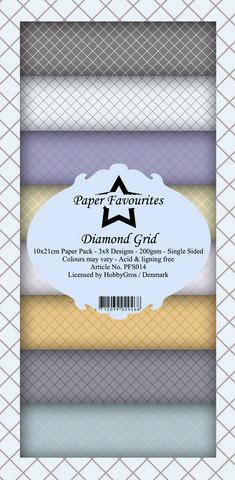 Paper Favourites Diamond Grid -paperipakkaus, Slim Line