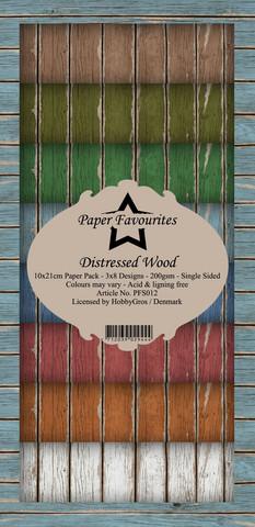 Paper Favourites Distressed Wood -paperipakkaus, Slim Line