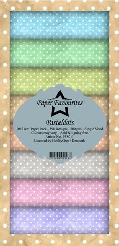 Paper Favourites Pastel Dots -paperipakkaus, Slim Line