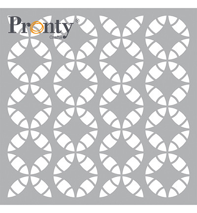 Pronty sapluuna Retro Pattern