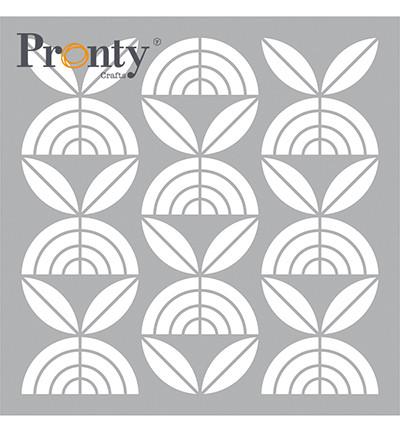 Pronty sapluuna Retro Pattern Flowers