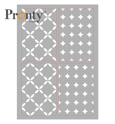 Pronty sapluuna Retro Pattern 4, A4