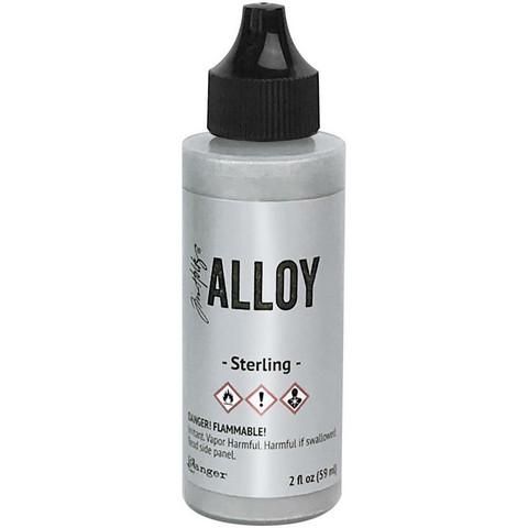 Tim Holtz Alloy alkoholimuste, sävy Sterling, 59 ml