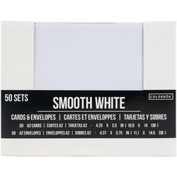 Colorbök korttipohjat ja kirjekuoret, A2, valkoinen, II-laatu