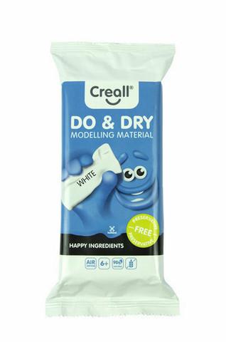 Creall Do & Dry Modelling Material -massa, 500 g, valkoinen