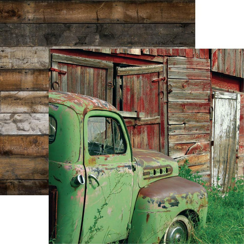 Reminisce Barnwood Beauty skräppipaperi #4