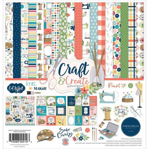 Carta Bella Craft & Create -paperipakkaus, 12