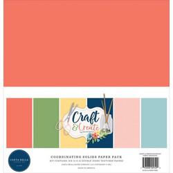Carta Bella Craft & Create, Solids -paperipakkaus, 12