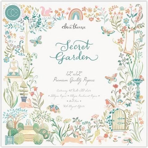 Craft Consortium Secret Garden -paperipakkaus, 12