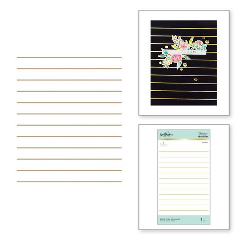 Spellbinders Glimmer Hot Foil -kuviolevy Skinny Stripe Background