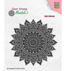 Nellie's Choice leimasin Mandala Sunflower 2