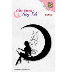 Nellie's Choice Fairy Tale leimasin Elf On The Moon
