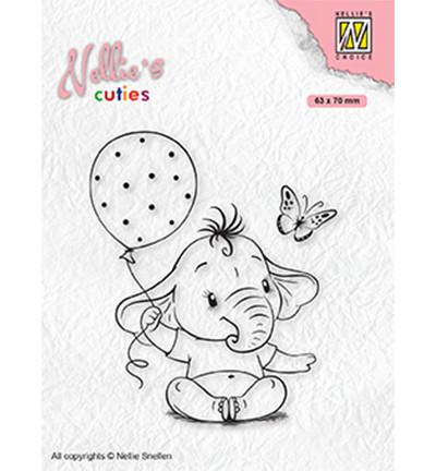 Nellie's Choice Cuties leimasin Baby Elephant With Balloon