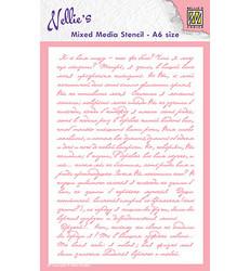 Nellie's Choice Mixed Media sapluuna Writing