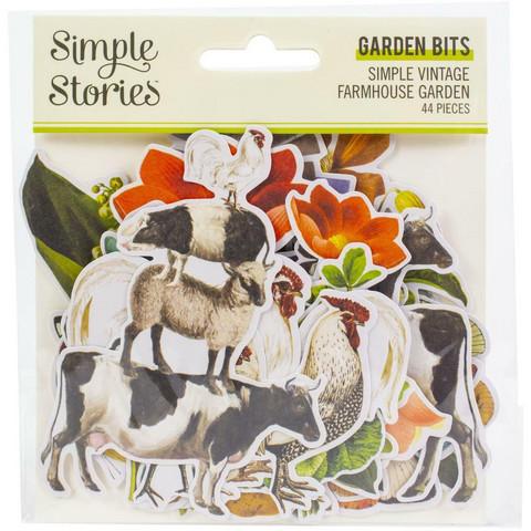 Simple Stories Simple Vintage Farmhouse Garden Bits Die-Cuts, leikekuvat