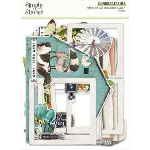Simple Stories Simple Vintage Farmhouse Garden Chipboard Frames -kehykset
