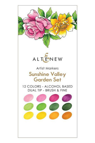 Altenew Artist Markers -setti Sunshine Valley, alkoholitussit