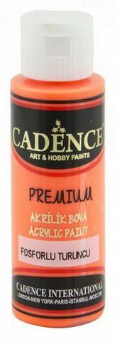 Cadence Premium Acrylic -akryylimaali, sävy Fluorescent Orange (neon), 70 ml