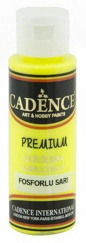 Cadence Premium Acrylic -akryylimaali, sävy Fluorescent Yellow (neon), 70 ml