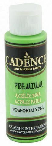 Cadence Premium Acrylic -akryylimaali, sävy Fluorescent Green (neon), 70 ml