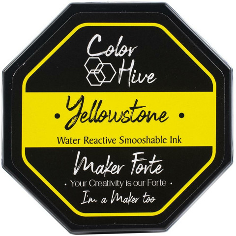 Maker Forte Color Hive -mustetyyny, sävy Yellowstone