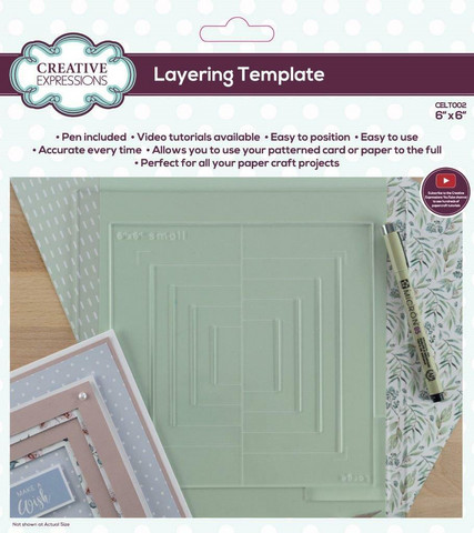 Creative Expressions Layering Template -alusta, 6