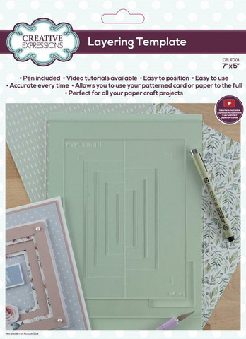 Creative Expressions Layering Template -alusta, 5