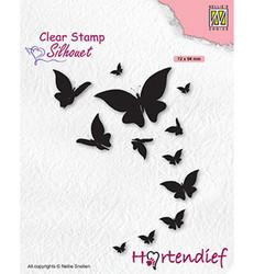 Nellie's Choice Silhouet leimasin Butterflies