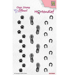 Nellie's Choice Silhouet leimasin Footprints