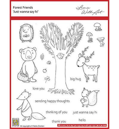 Nellie's Choice Forest Friends -leimasin Just Wanna Say Hi