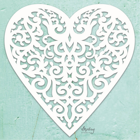Mintay Chippies Decor -chipboard Filigree Heart