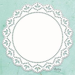 Mintay Chippies Decor -chipboard Doily