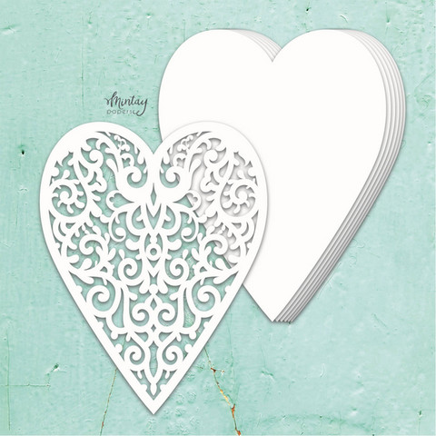 Mintay Chippies Album Base -chipboard Heart
