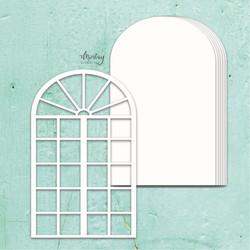 Mintay Chippies Album Base -chipboard Window