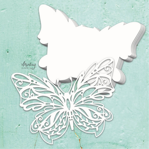 Mintay Chippies Album Base -chipboard Butterfly