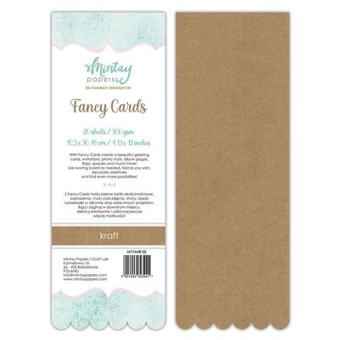 Mintay Fancy Cards -pohjat Kraft 02