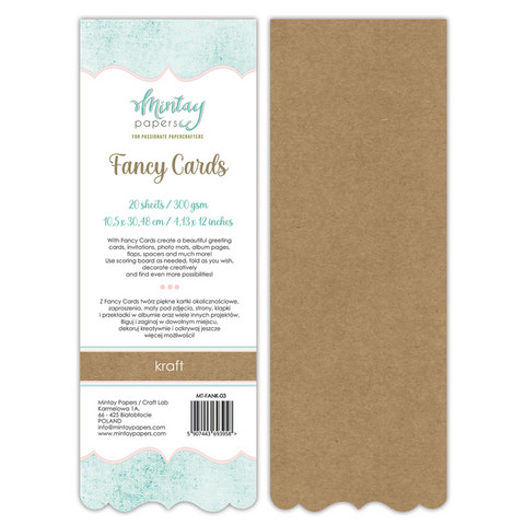 Mintay Fancy Cards -pohjat Kraft 03