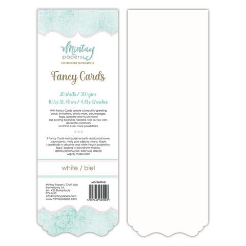 Mintay Fancy Cards -pohjat White 01